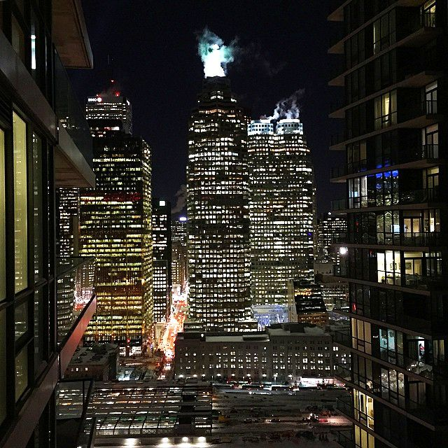 Toronto night downtown